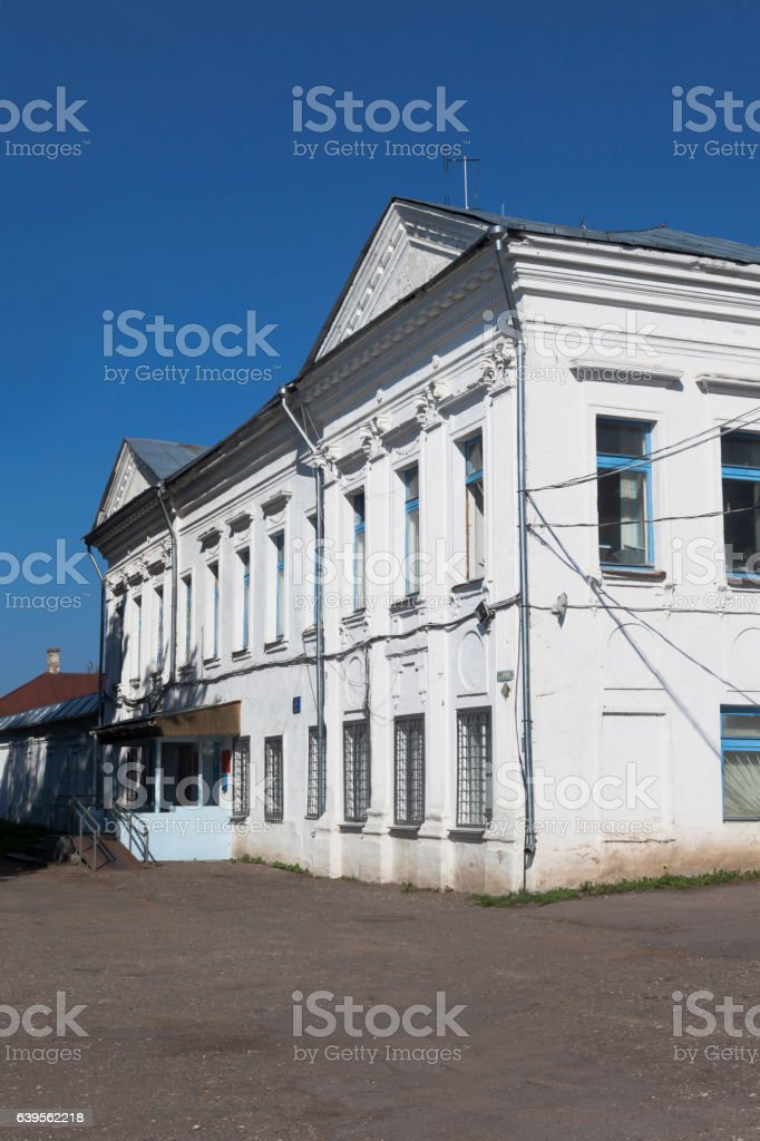 Building of the Interior Ministry of Russia in Totemsky District stock photo