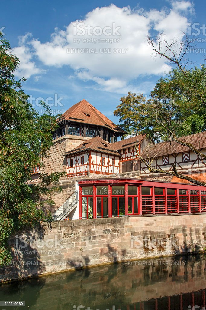 Building of the Kreisjugendring in Nuremberg, Germany, 2015 stock photo