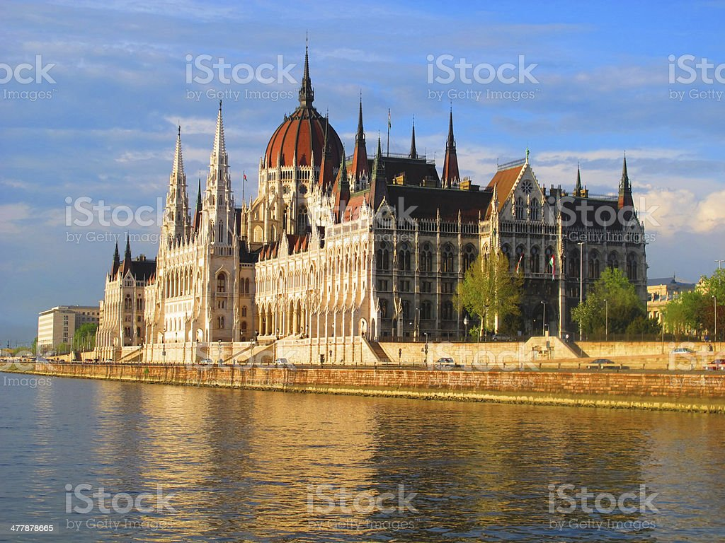 Building of the Parliament in Budapest, Hungary royalty-free stock photo