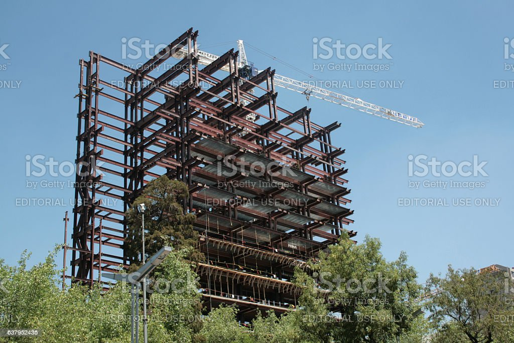 Building of the Republic senate headquarters in México city. stock photo