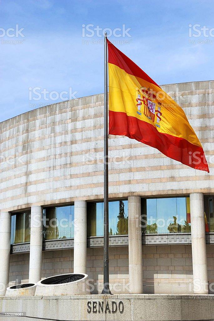 Building of the Senate in Spain stock photo
