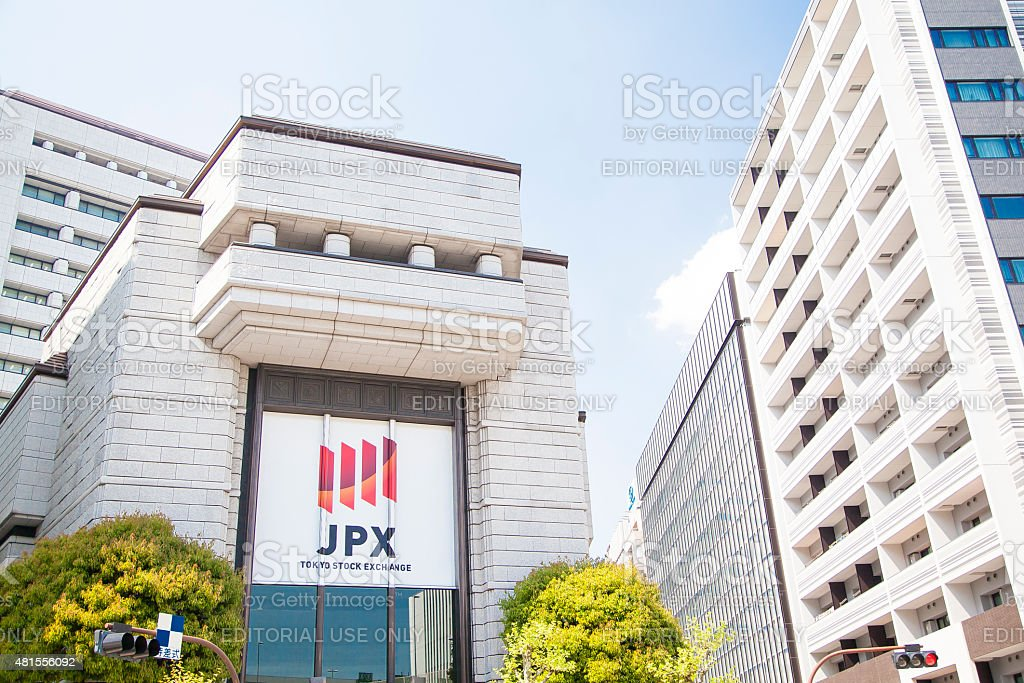 Building of the Tokyo Stock Exchange stock photo