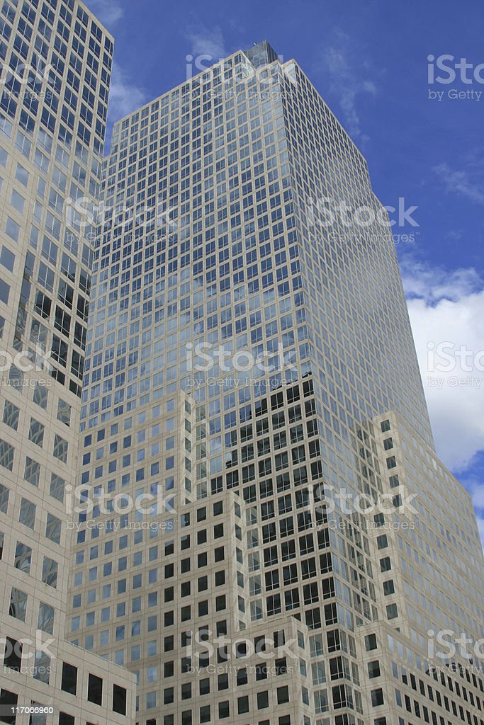 Building of the World Financial Center in Manhattan royalty-free stock photo