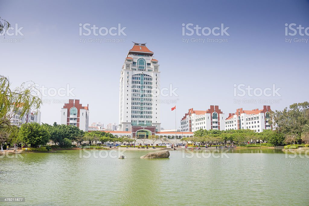 Building of Xiamen university stock photo