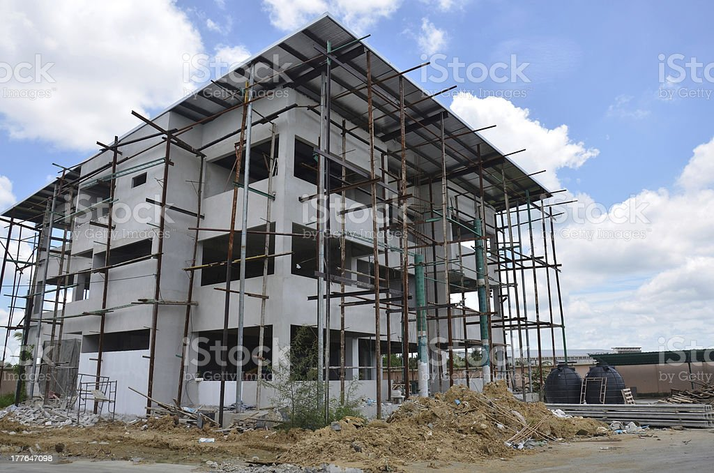 Building office construction at Thailand stock photo