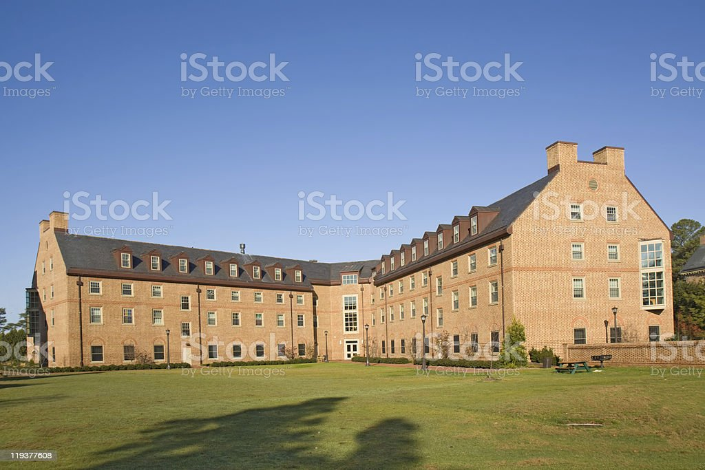 Building on a college campus stock photo