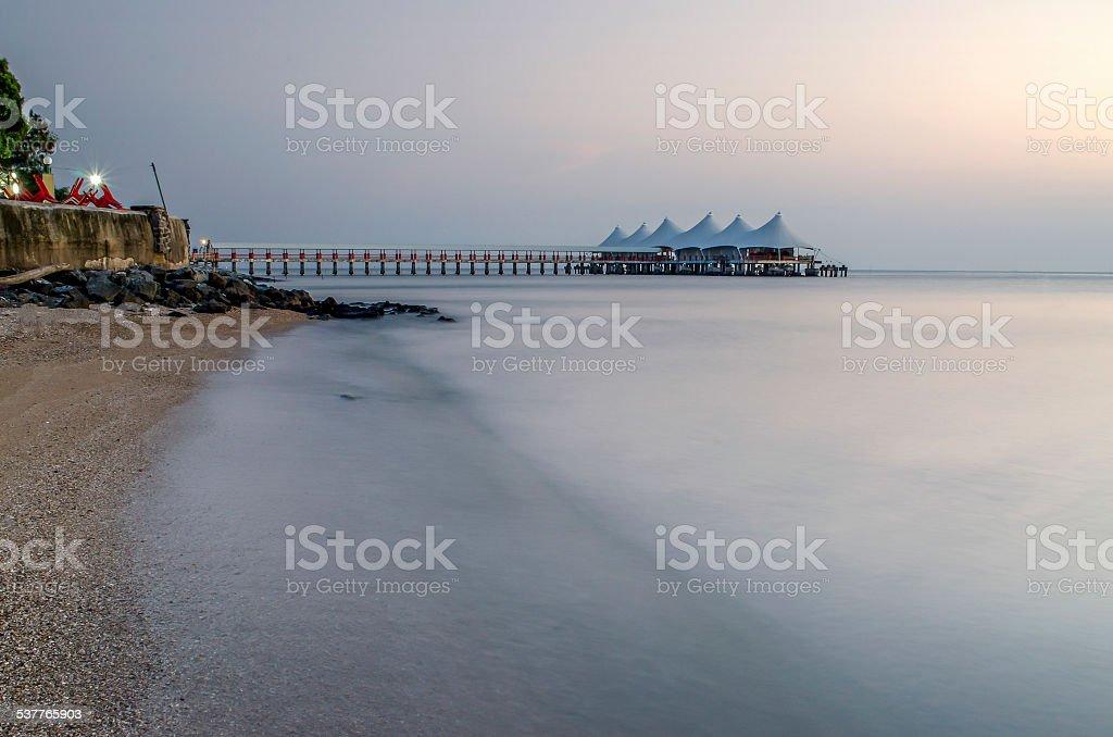 Building On an Ocean stock photo