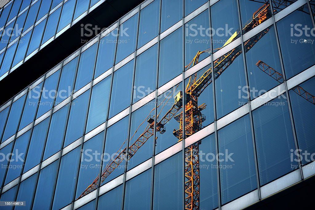 Building On Construction royalty-free stock photo