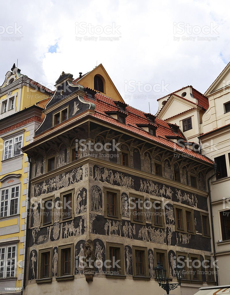 Building on Old Town Square, Prague royalty-free stock photo