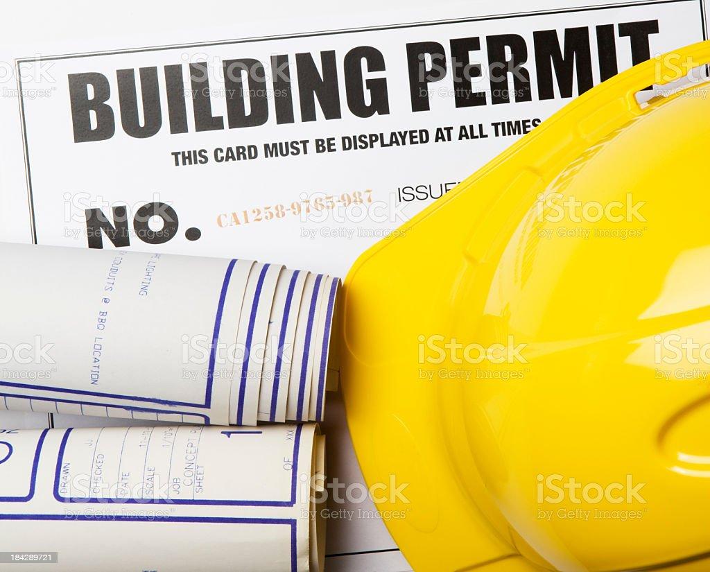 Building Permit stock photo