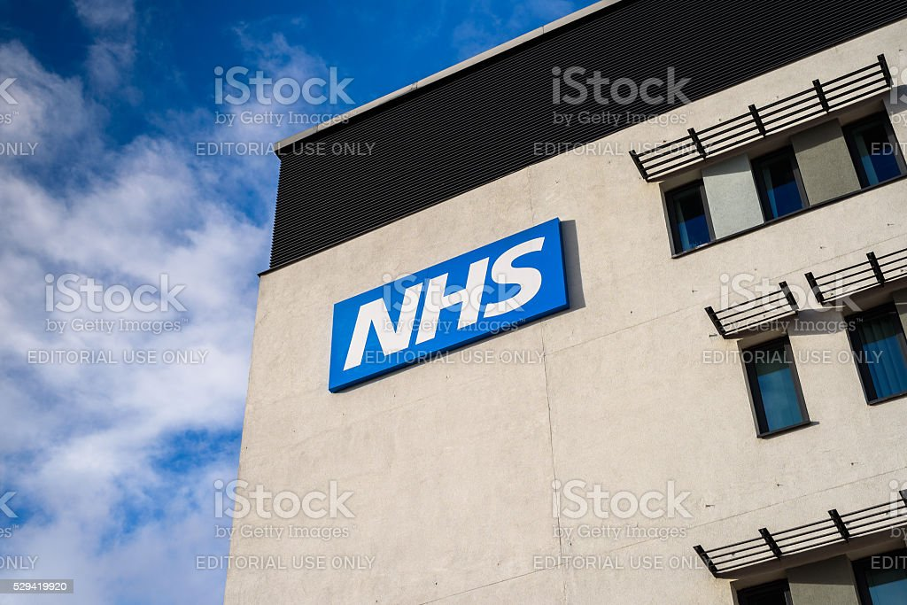 NHS Building stock photo