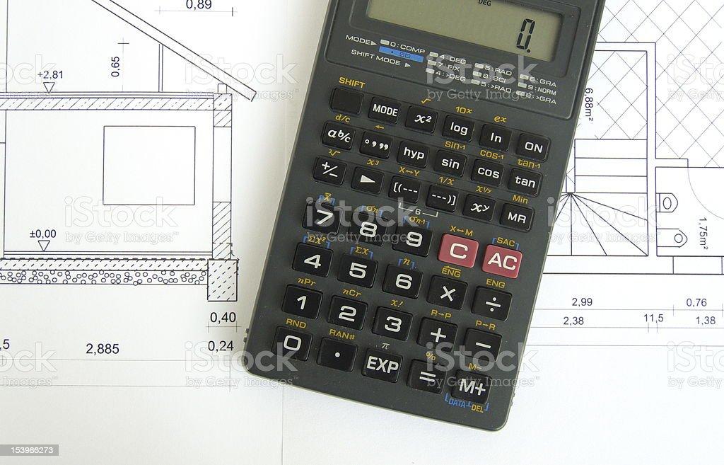 building plan stock photo