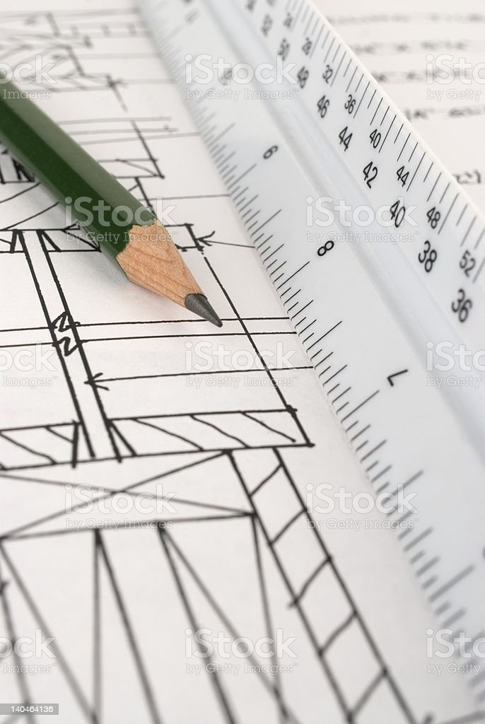 Building Plans. stock photo