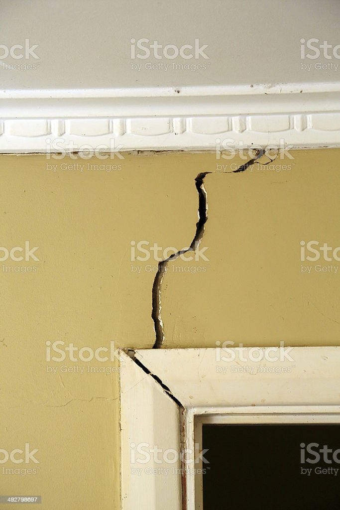Building problems stock photo