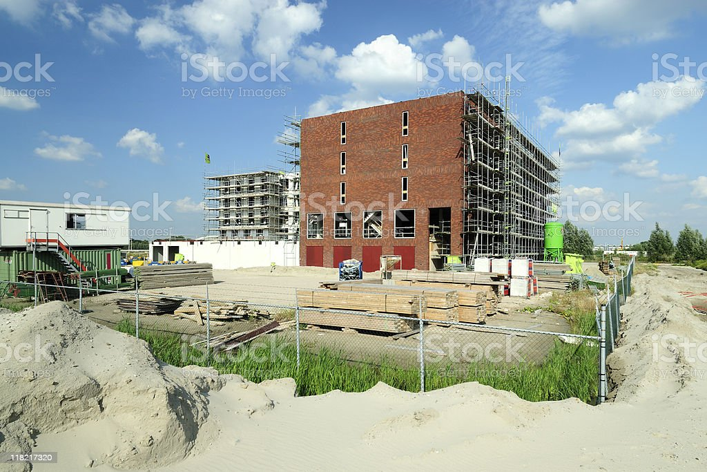 Building project in the Netherlands royalty-free stock photo