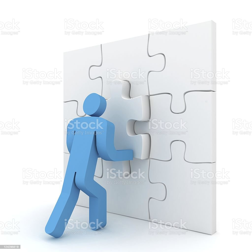Building Puzzle royalty-free stock photo