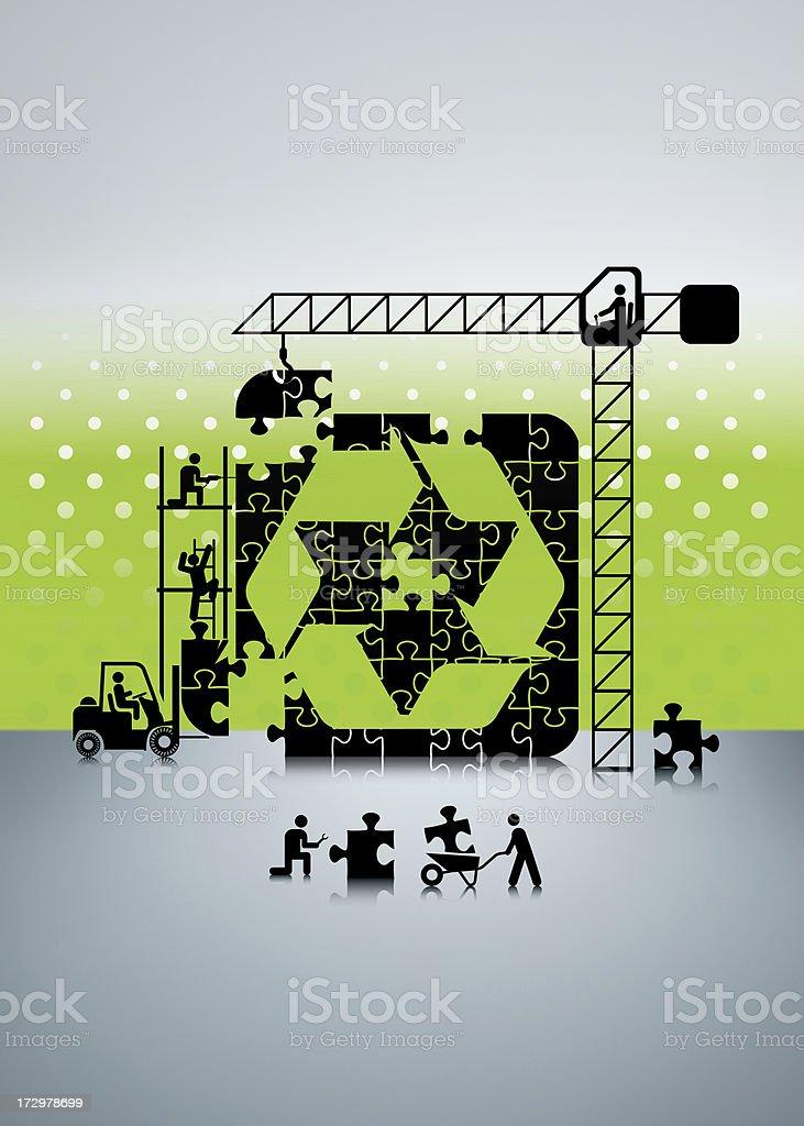 Building Recycle Icon stock photo