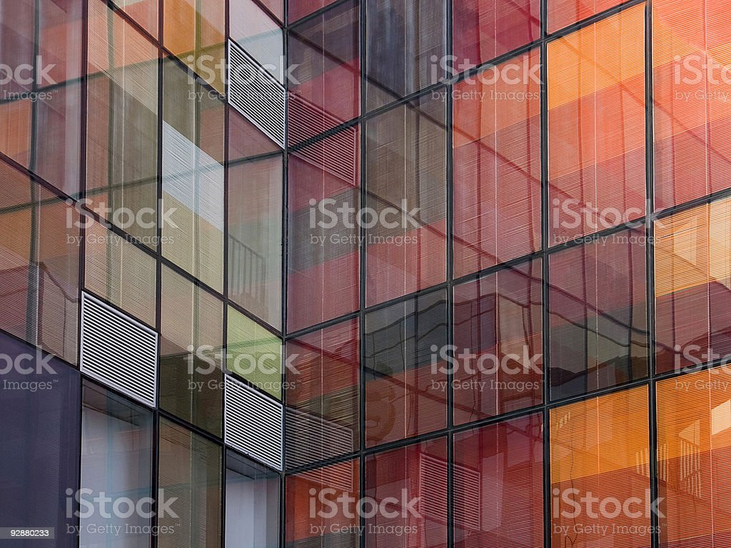 Building reflection royalty-free stock photo