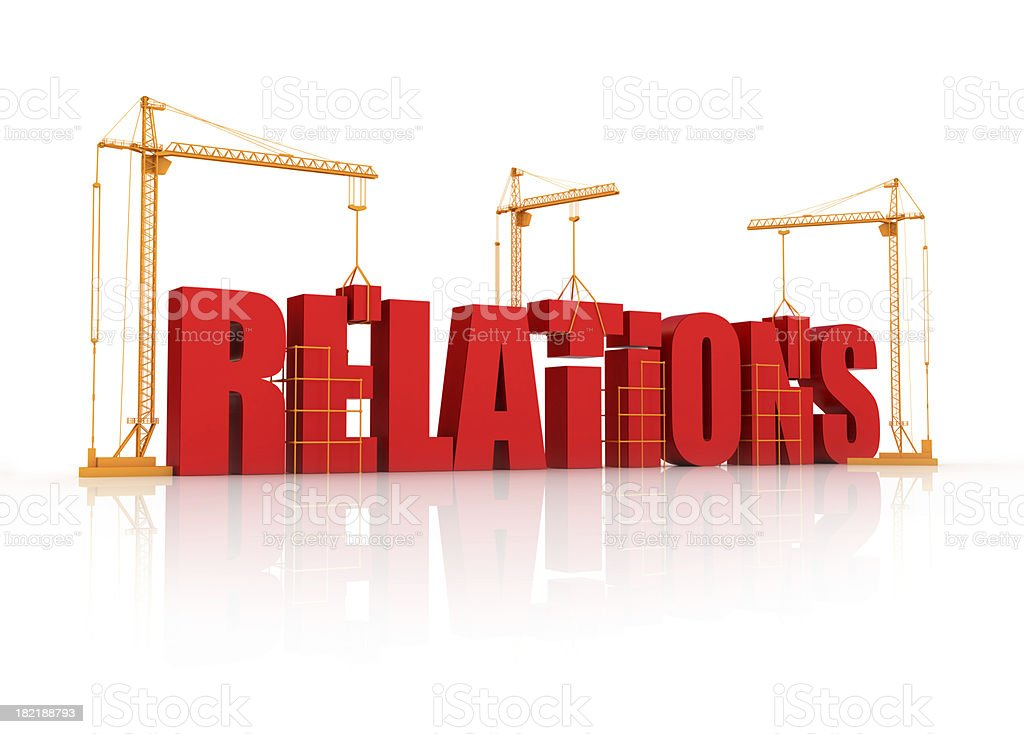 building relations royalty-free stock photo