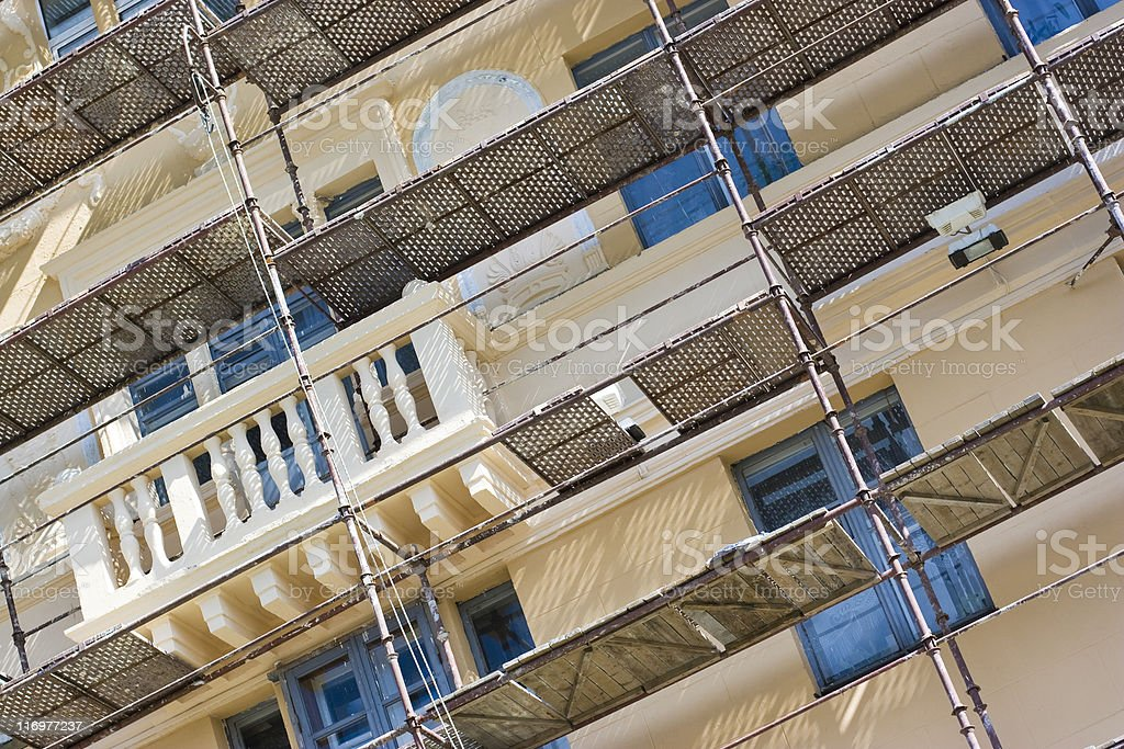 Building renovation royalty-free stock photo