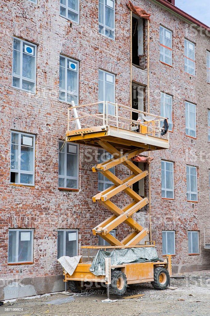 Building renovation stock photo