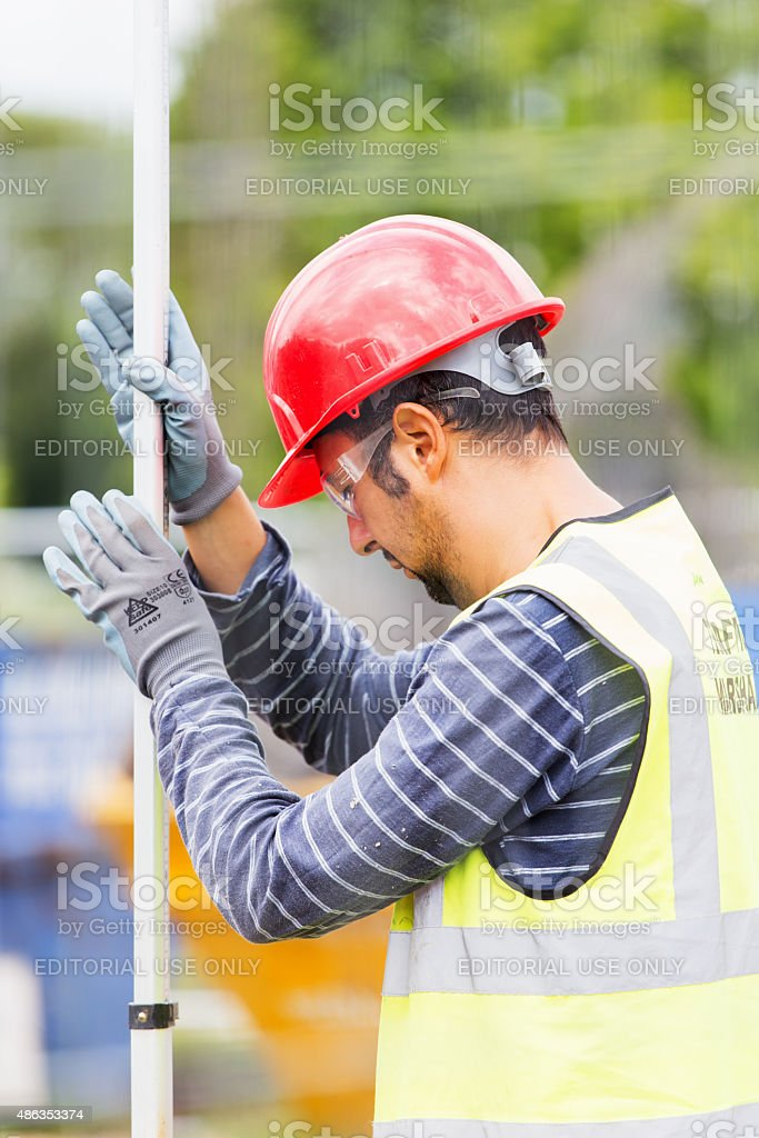Building River Thames Pedestrian cycle stock photo