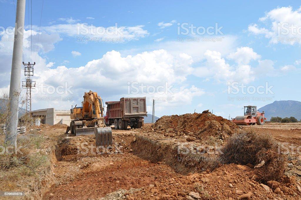 Building Roads stock photo