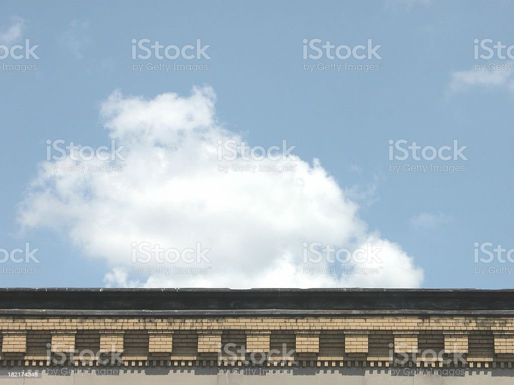 Building Rooftop in Boston royalty-free stock photo