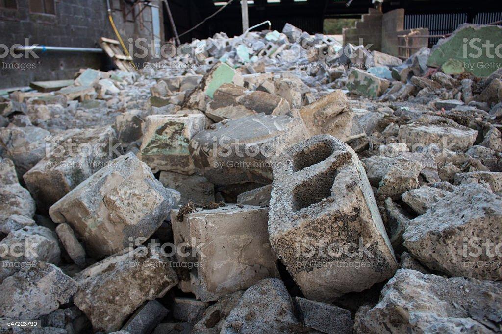 Building rubble stock photo