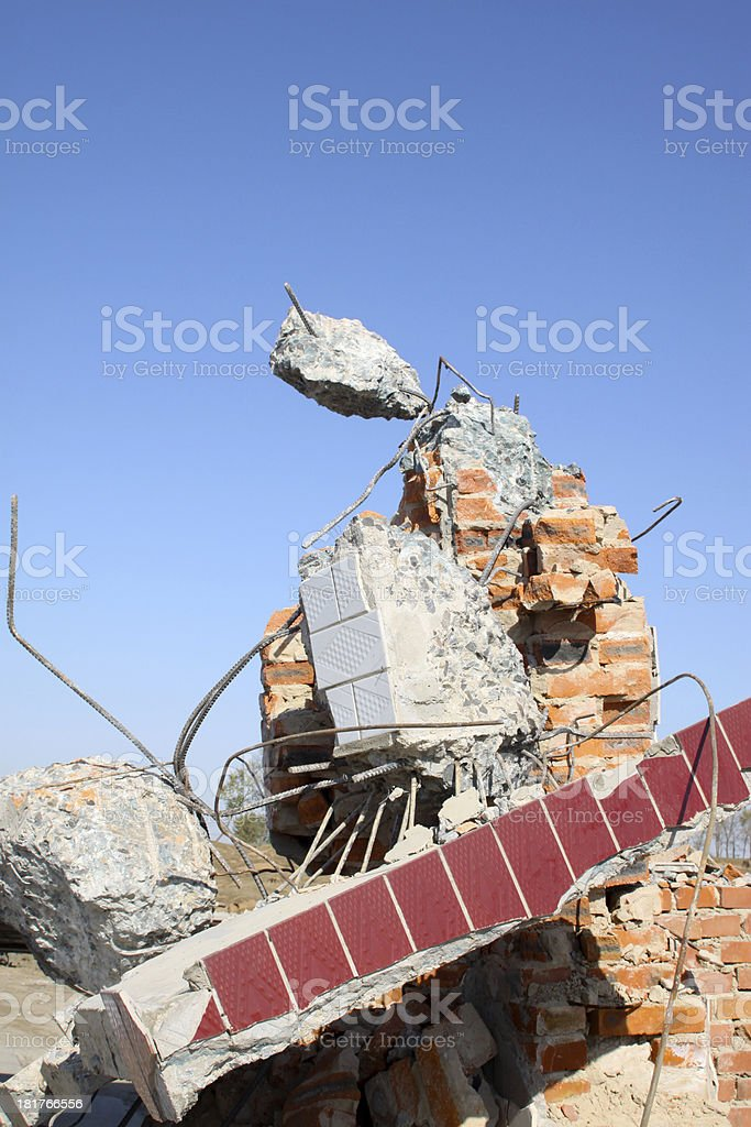 building ruins royalty-free stock photo
