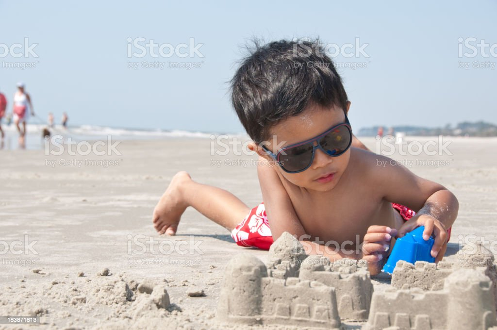 building sand castle royalty-free stock photo