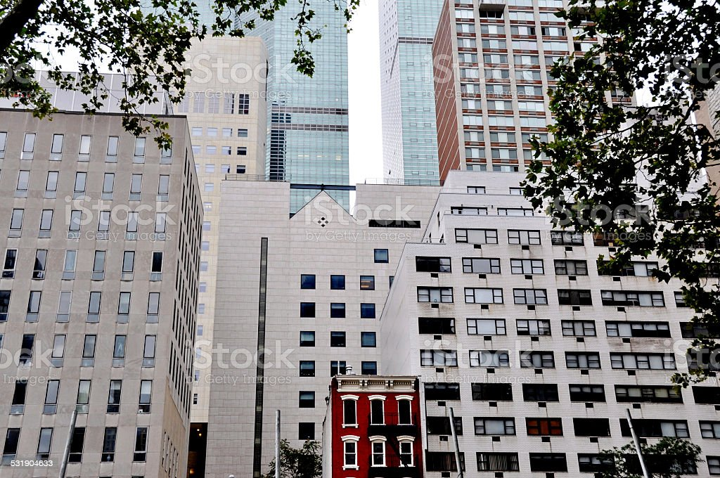 Building Scale New York stock photo