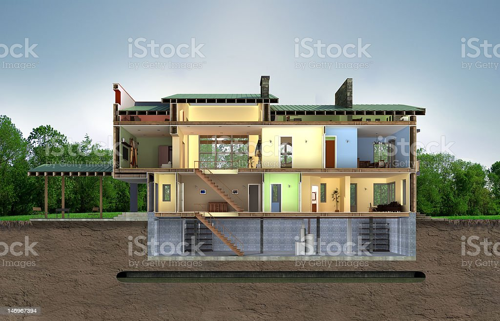 Building section stock photo