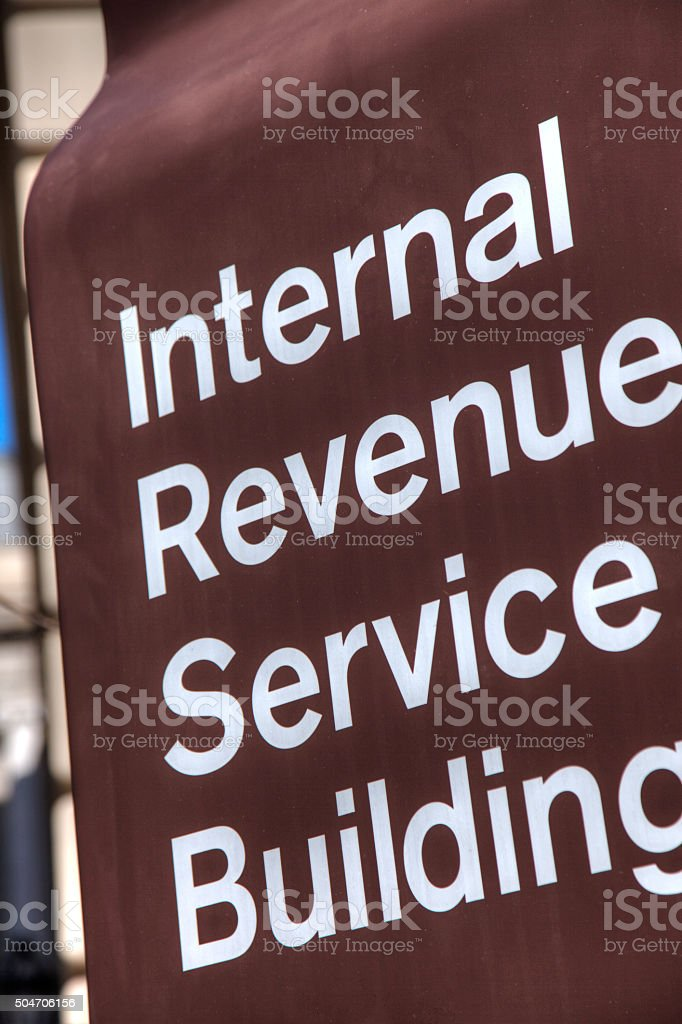 IRS Building sign Detail stock photo