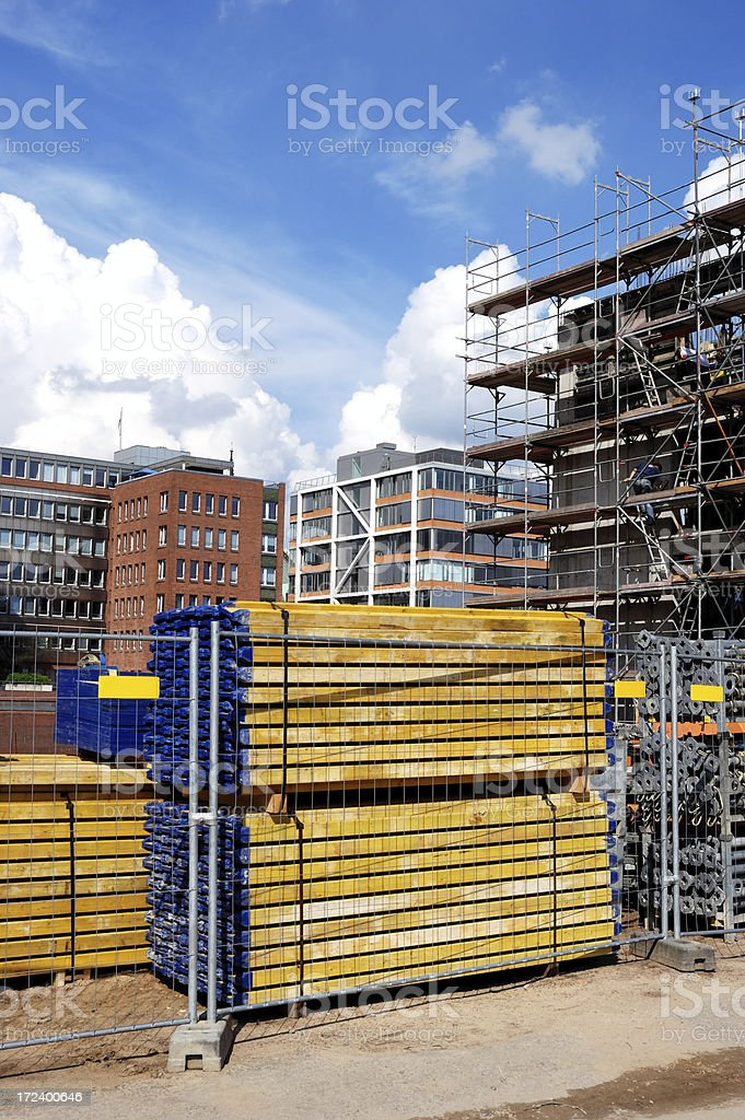 building site and stack royalty-free stock photo