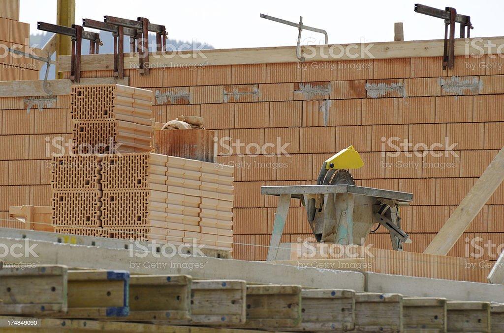 building site brickstone stock photo