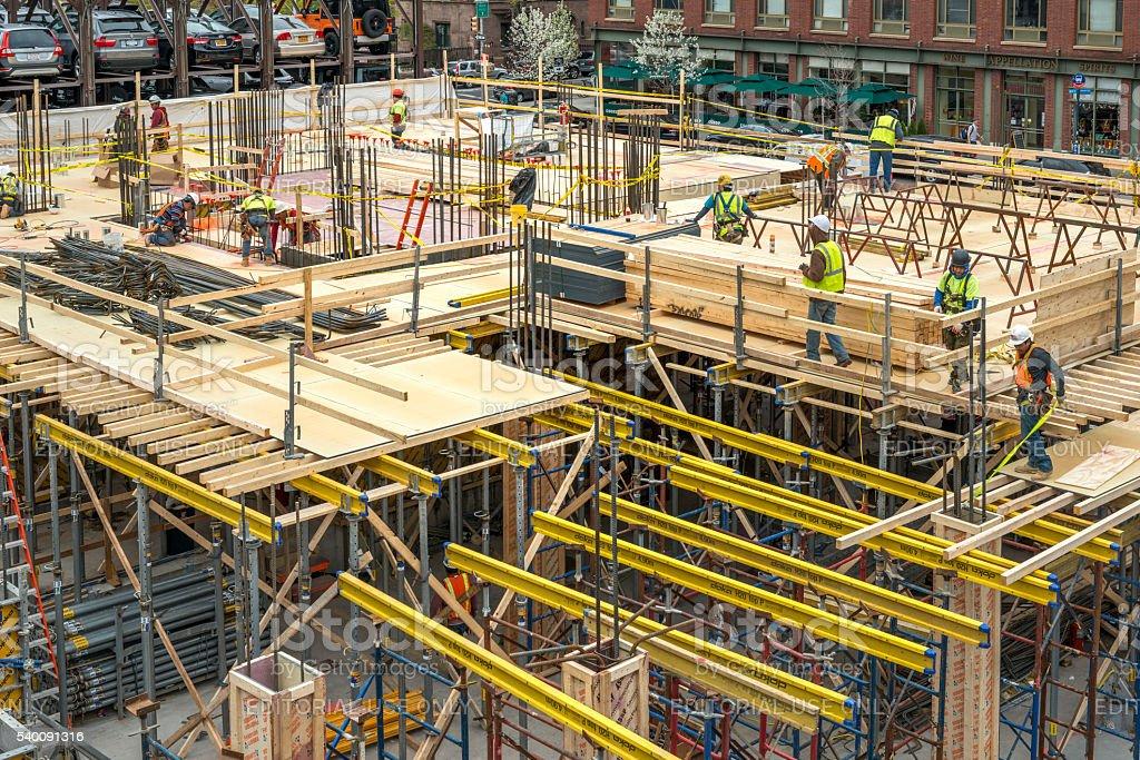 Building site in New York, Manhattan. stock photo