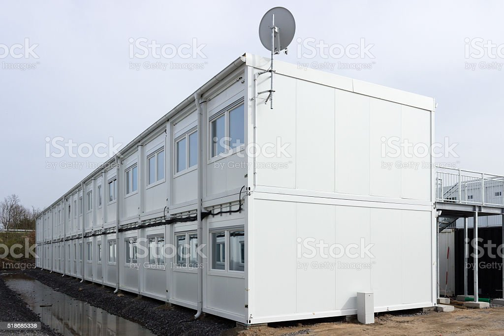 Building site refugee accommodation at waghäusel wiesental germany stock photo