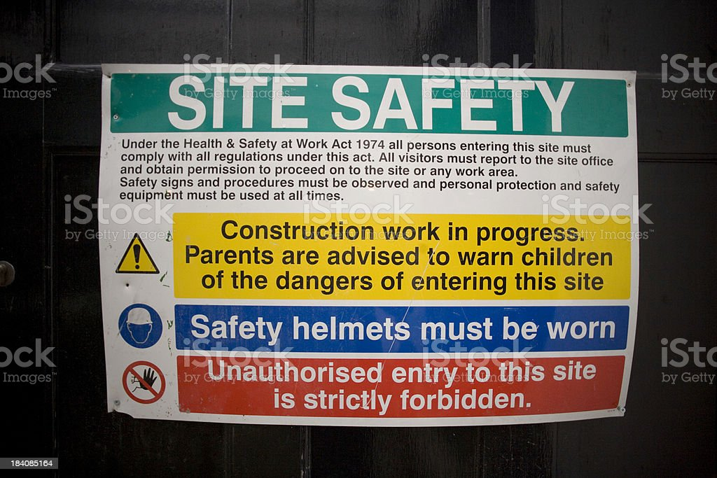 Building Site Safety Rules royalty-free stock photo