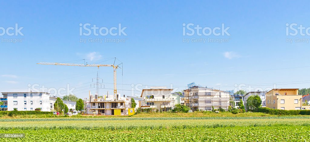 Building site with new houses stock photo