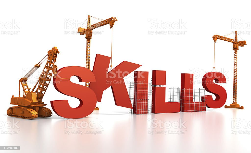 Building Skills vector art illustration