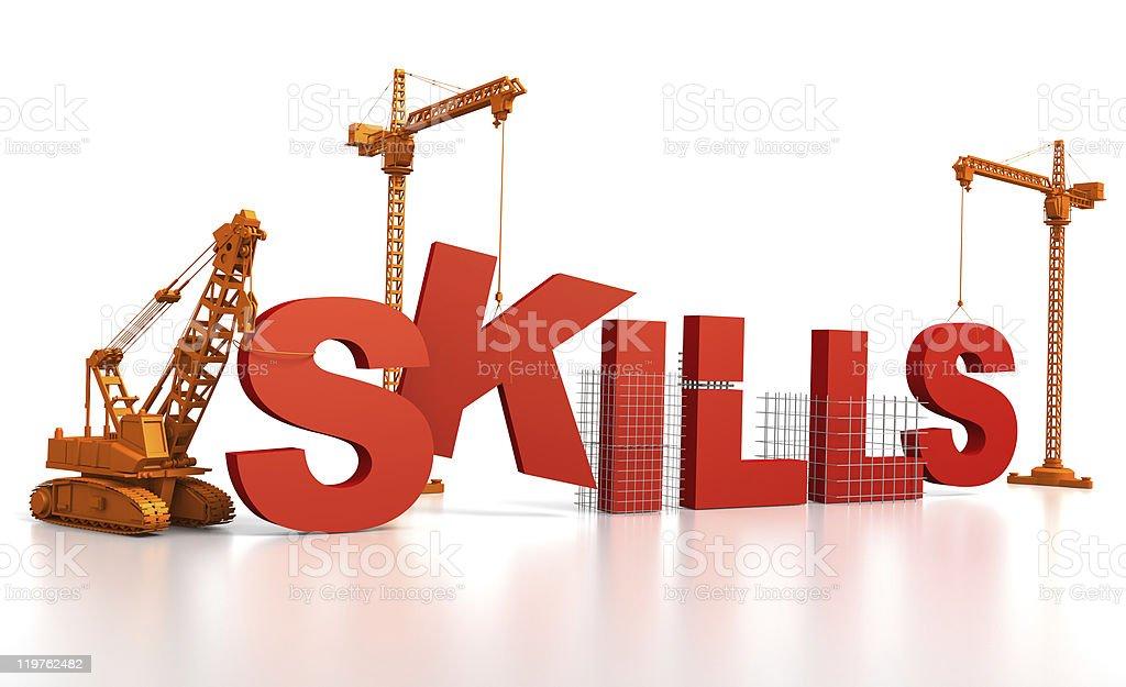 Building Skills stock photo