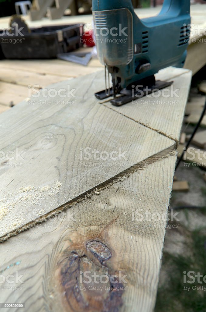 Building Stair Stringers stock photo