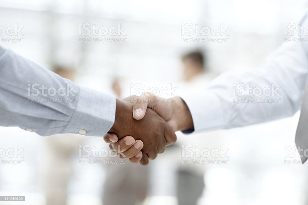 Building strong business relationships stock photo