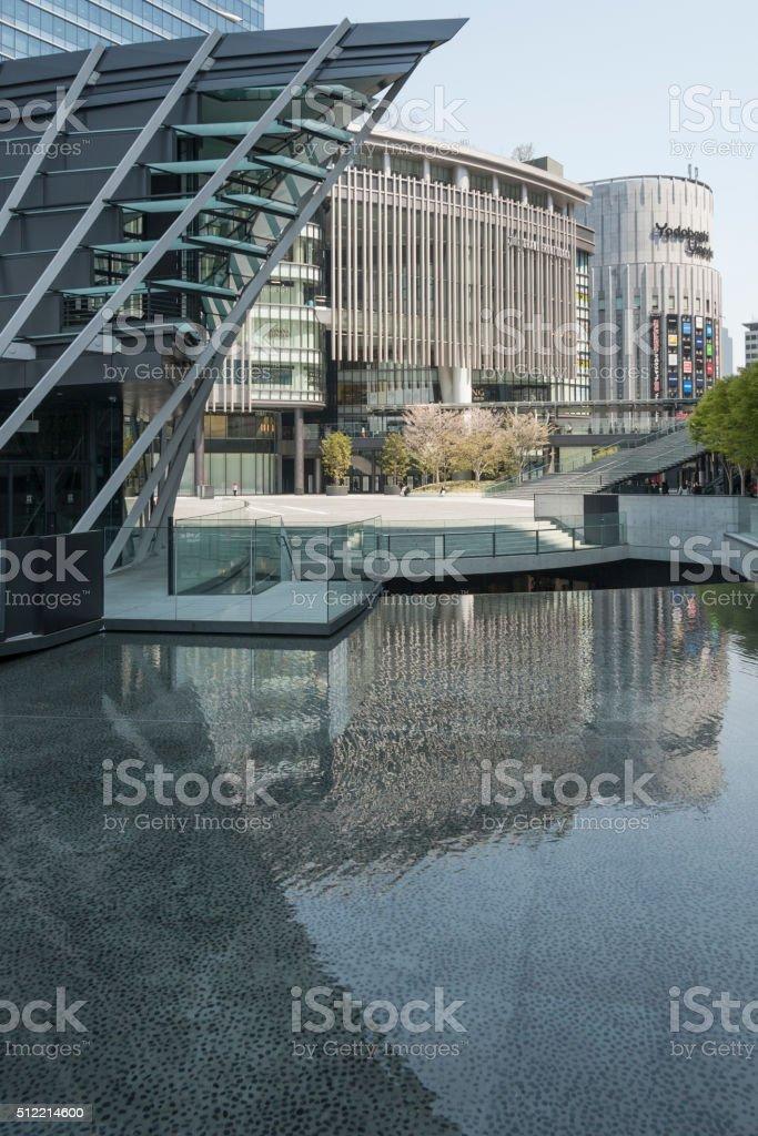 Building Structure at Osaka Station stock photo