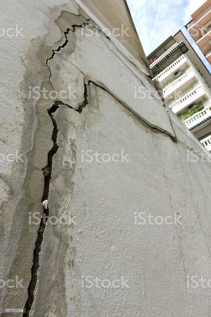 Building subsidence. stock photo