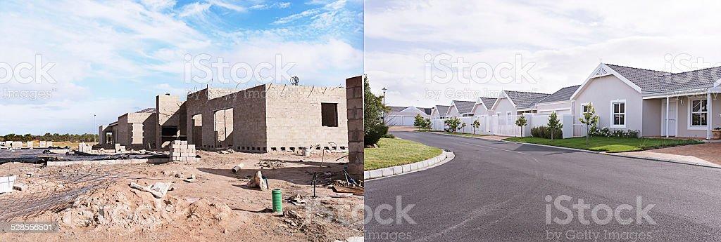 Building suburbia stock photo