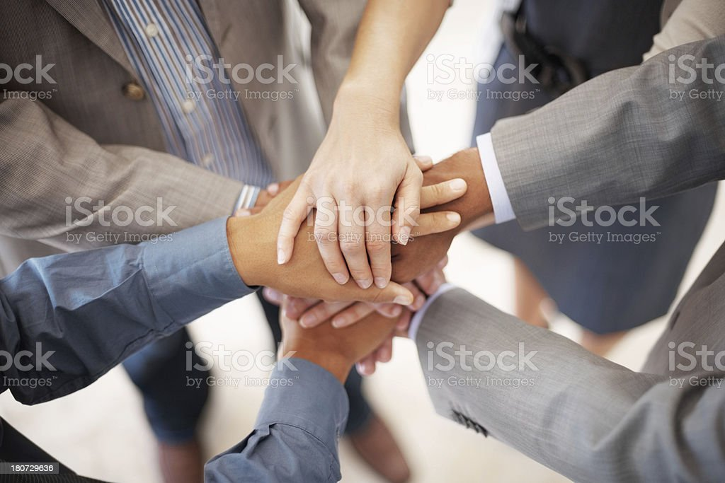 Building team spirit royalty-free stock photo