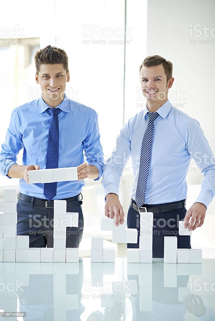 Building team success royalty-free stock photo