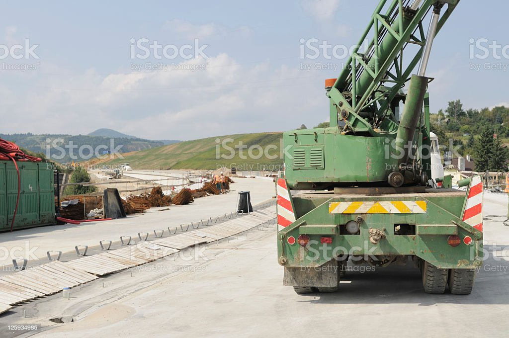 Building the highway royalty-free stock photo